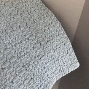 Bedding - NEW light blue euro shams set of 2